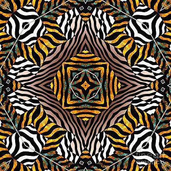 Zebra Mandala by Joseph J Stevens