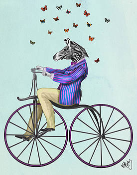 Zebra on a Bicycle by Loopylolly