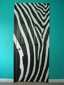 Zebra Stripe Mural - Door Number 1 by Sean Connolly