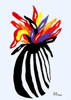 Zebra Vase by Andrew Petras