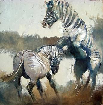 Zebras by Alida Bothma