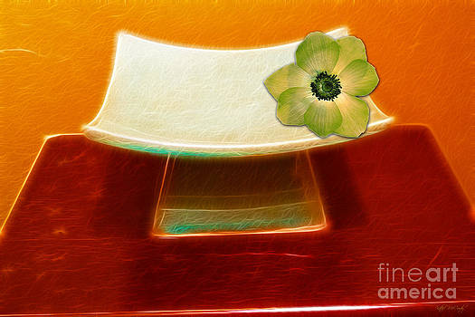 Zen Flower Dish by Kathie McCurdy