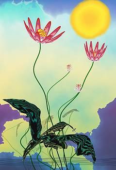 Zen flowers by GuoJun Pan