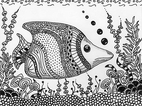 Zentangled Fish -- Just cruisin... by Sherry Goeben