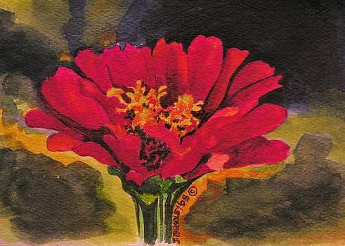 Zinnia Flower by Joy Bradley