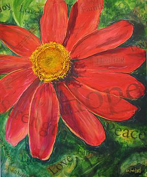 Zinnia of Hope by Lisa Fiedler Jaworski