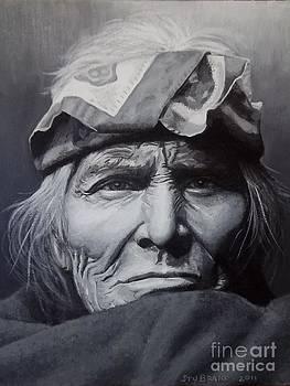 Zuni Elder - painting by Stu Braks