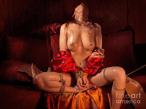 Beautiful Naked Woman with Tied Hands by Oleksiy Maksymenko