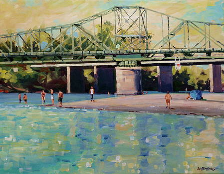 Bridge and Bathers by David Lobenberg