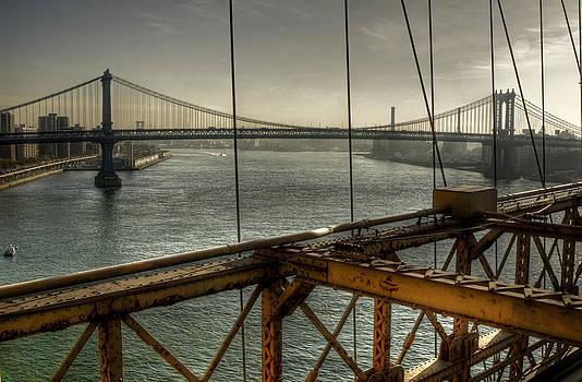On Brooklyn Bridge by Marlene Ford