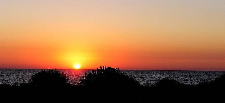 Sunset and silhouettes by John Myers