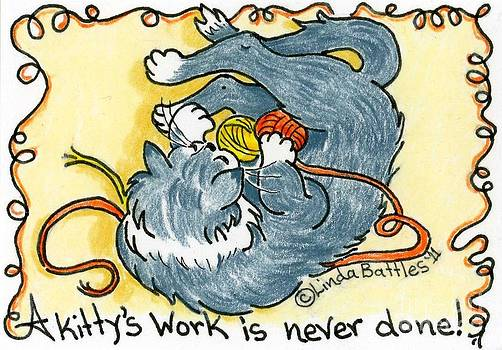 A Kitty's Work by Linda Battles