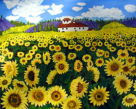 Ana's Sunflowers by Norma Tolliver