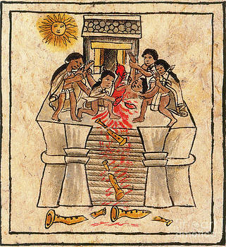 Photo Researchers - Aztec Human Sacrifice Codex