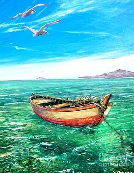Barca In Mare N.2 by Sandro  Mulinacci