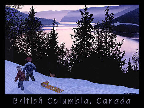 BC Thompson River Poster by Neil Woodward