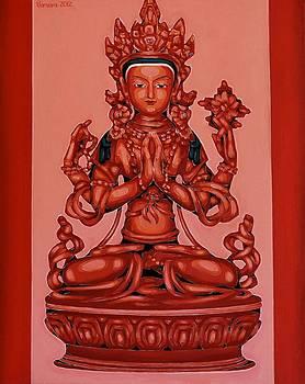Buddha Of Compassion by Varvara Stylidou
