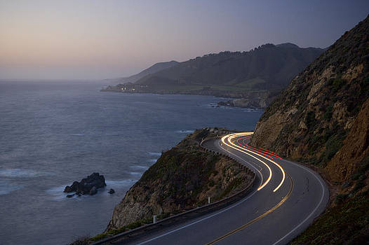 California Highway 1 At Milepost 59 by Greg Probst