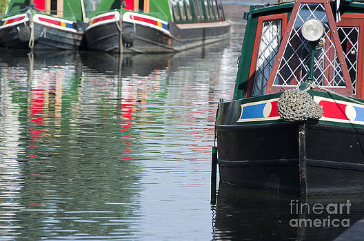 Canal boats by Andrew  Michael