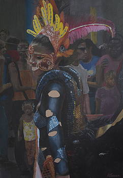 Carnival lady by Kelvin James