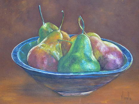 Colorful Pears by Virgilla Lammons