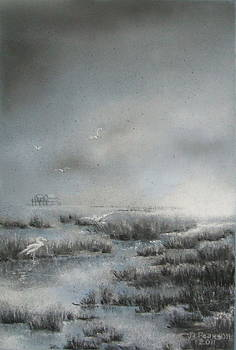 Daybreak on the Marsh by Judy Pearson