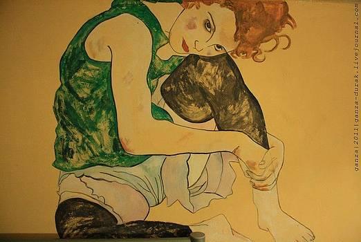 egon Schiele copy by Maria Degtyareva