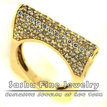 Fancy Diamond Ring by Sasha Fine Jewelry