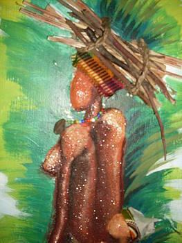 Firewood carrier by Isaac Bineyson