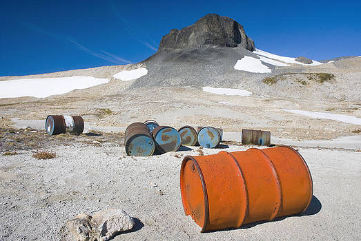 Fuel Drums Abandoned By Miners And Left by Alan Majchrowicz
