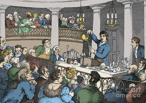 Science Source - Humphrey Davy Lecturing 1809