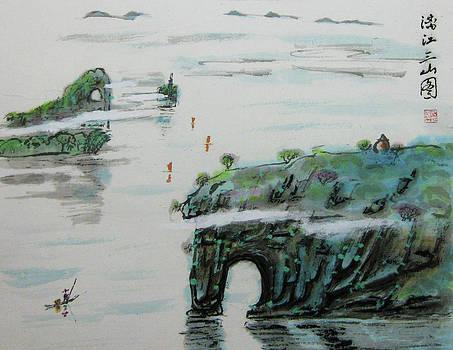 Lijiang San Shan Tu by Jason Zhang