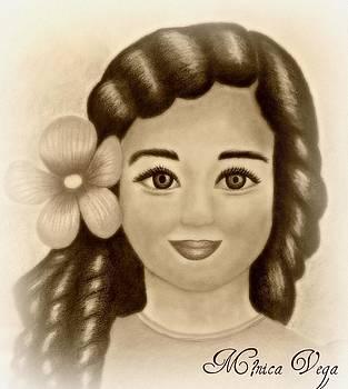 Little Girl with Flower by Monica  Vega