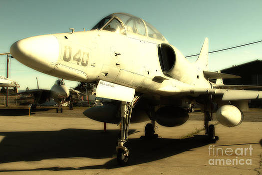 Wingsdomain Art and Photography - McDonnell Douglas TA-4J Skyhawk Aircraft Fighter Plane . 7D11198