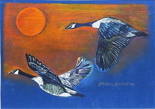 Migrating Geese by Blossom Hackett