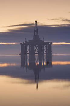 Oil Rig Anchored In The Cromarty Firth by Iain  Sarjeant