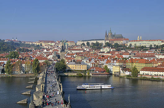 Prague Charles bridge by Travel Images Worldwide