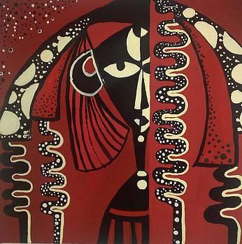 Red Background by Zainab Elmakawy