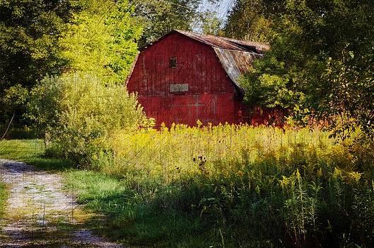 Red barn by Cheryl Cencich