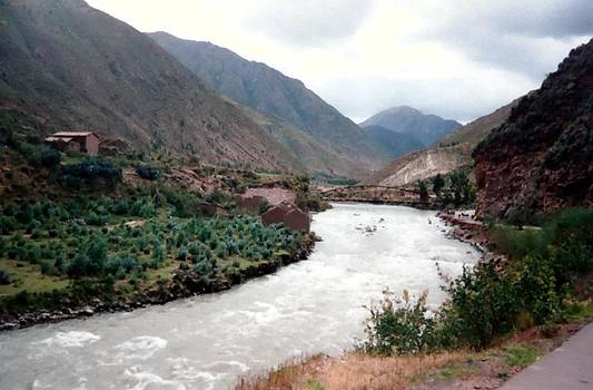 River Urubamba through the Sacred Valley of the Incas by Ronald Osborne