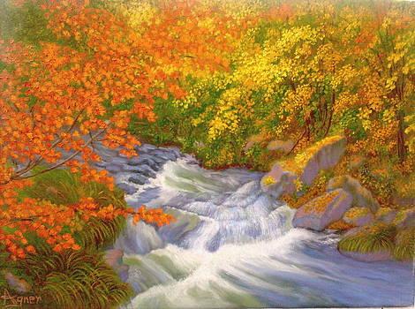 Rushing Stream by Darlene Agner