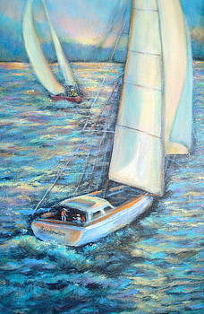 Sailing II by Holly LaDue Ulrich