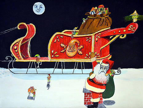 Santas Sleigh by Gordon Wendling