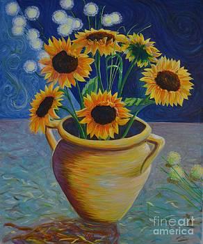 Sunflower original by K Art