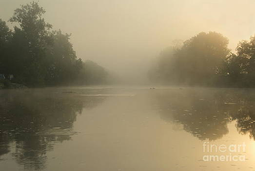 Sunrise at Kolpa river by Tomaz Kunst