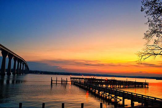 Sunset Bridge by Kelly Reber