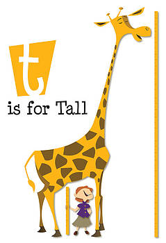 T is for Tall - Giraffe by Andrew Fling