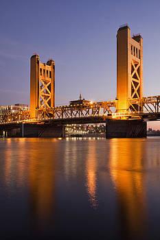 Tower Bridge Sacramento California Usa by Bryan Mullennix