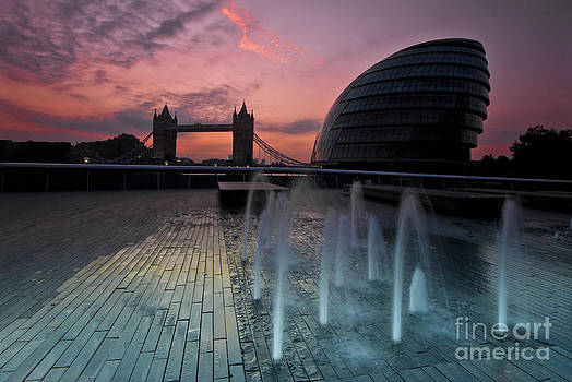 Tower Bridge Sunrise by Donald Davis