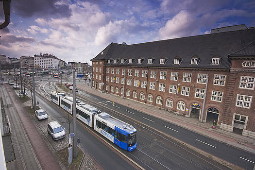 Trams in Bremen by Sydney Alvares